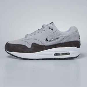 Sneakers buty damskie Nike Air Max 1 Premium SC wolf grey / deep pewter / white / metallic pewter AA0512-002