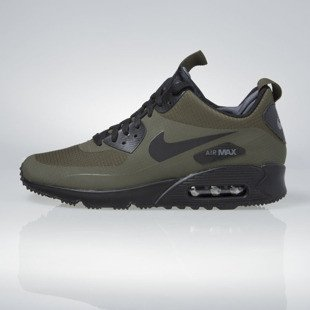 Sneakers buty zimowe Nike Air Max 90 Mid Winter dark loden / black-dark grey 806808-300
