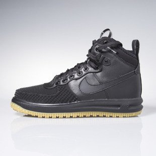 Sneakers buty zimowe Nike Lunar Force 1 Duckboot black / black-metallic silver-an 805899-003