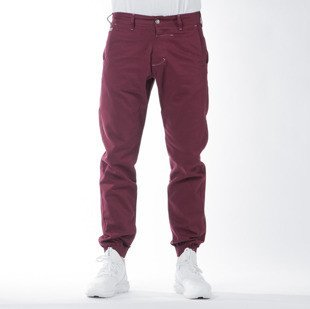 Spodnie Turbokolor Trainer Chino burgundy SS16