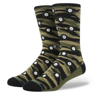 Stance skarpety Eight Ball olive M545C16EIG