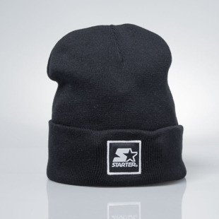 Starter czapka zimowa winter beanie Backboard Cuff Knit black / white  ST-1215