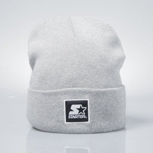 Starter czapka zimowa winter beanie Backboard Cuff Knit grey heather / white  ST-1215