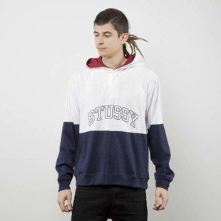 Stussy bluza Block Hooded Jersey navy