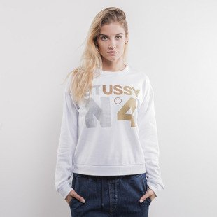 Stussy bluza Metallic No. 4 Tomboy Crew white