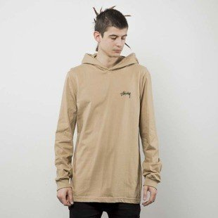 Stussy bluza Original Stock LS Hood Tee light brown