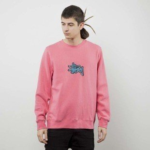 Stussy bluza Shadow Stock App. Crew dark pink