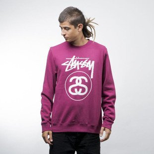 Stussy bluza crewneck Stock Link Crew grape