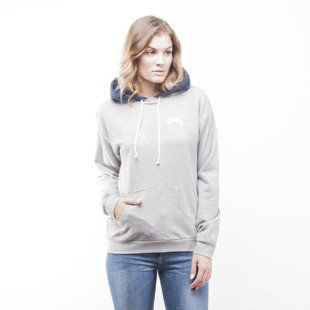 Stussy bluza sweatshirt Greenwitch Contrast Hoodie grey heather