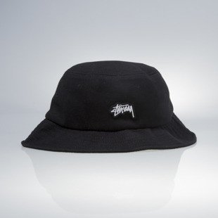Stussy bucket hat kapelusz Stock Logo Pique black