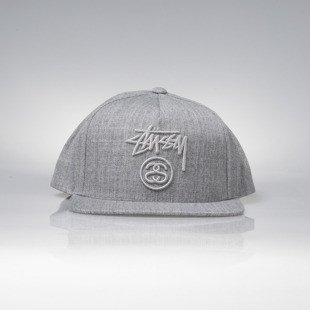 Stussy czapka snapback Stock Lock FA16 Cap grey heather