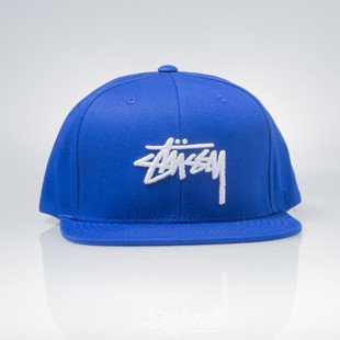 Stussy czapka snapback Stock SU16 Cap royal blue