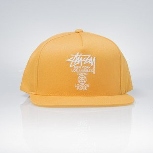 Stussy czapka snapback World Tour SU16 Cap yellow