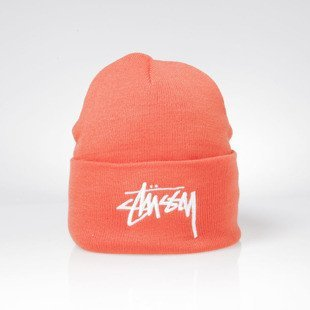 Stussy czapka zimowa winter beanie Stock Cuff Beanie orange