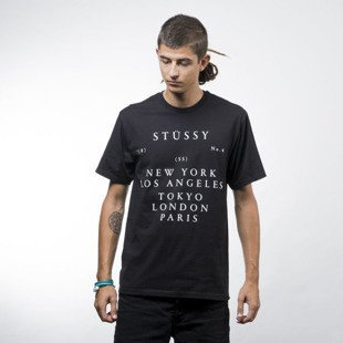 Stussy koszulka World Touring Tee black