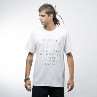 Stussy koszulka World Touring Tee white