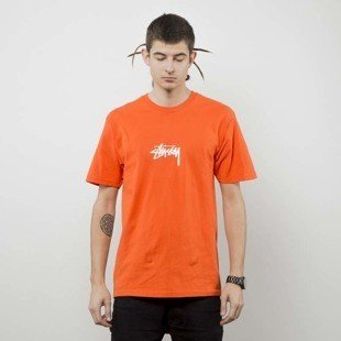 Stussy koszulka t-shirt Stock Tee orange