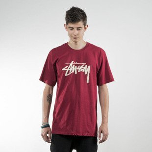 Stussy koszulka t-shirt Stock dark red SU16