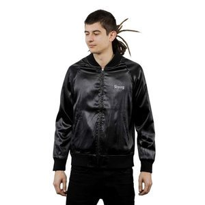 Stussy kurtka California Satin Jacket black