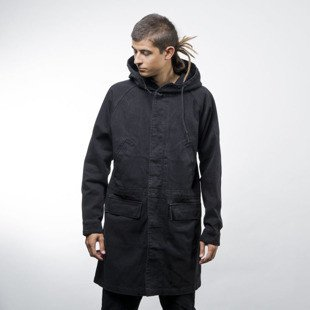 Stussy kurtka jacket Denim Parka black