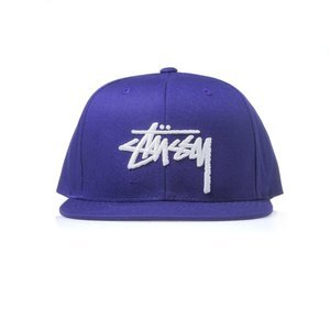 Stussy snapback czapka Stock purple