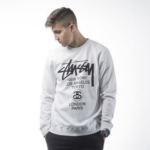 Stussy sweatshirt bluza World Tour Crew white