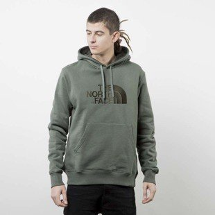The North Face bluza Drew Peak Pullover Hoodie thyme T0AHJYNYC