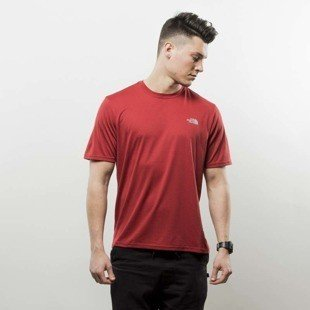 The North Face koszulka T-Shirt Reaxion Amp Crew cardinal red heather T0CE0QHJK