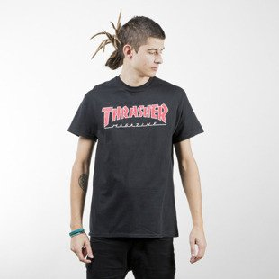 Thrasher koszulka Outlined T-shirt black