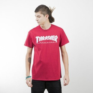 Thrasher koszulka Outlined T-shirt cardinal