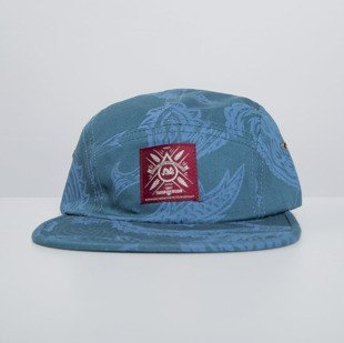 Turbokolor czapka strapback Five Panel Cap ocean blue / paisley print