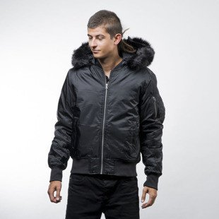 Urban Classics kurtka Hooded Basic Bomber Jacket black (TB1456)