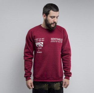 We Peace It bluza Sentinels Crewneck burgundy