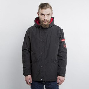 We Peace It kurtka  Black Red Jacket Parka black