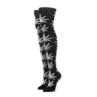 Zakolonówki HUF Plantlife Thigh Highs black / white