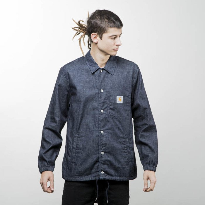 Carhartt Wip Kurtka Denim Coach Jacket Blue Rinsed