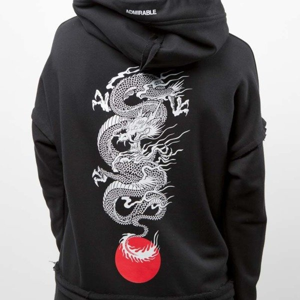 Admirable bluza hoodie Dragon black wmns