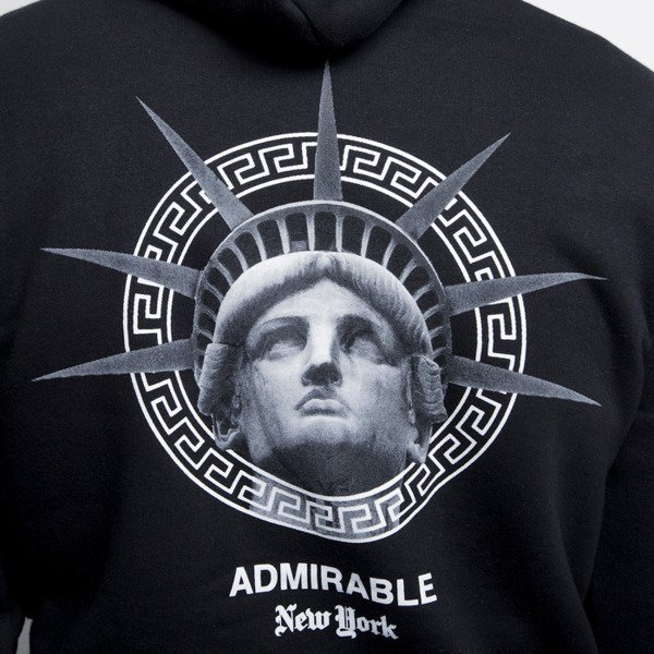 Admirable bluza sweatshirt New York hoody black