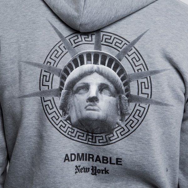 Admirable bluza sweatshirt New York hoody heather grey