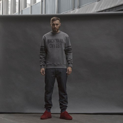 Backard Cartel bluza crewneck Back Sport dark grey heather