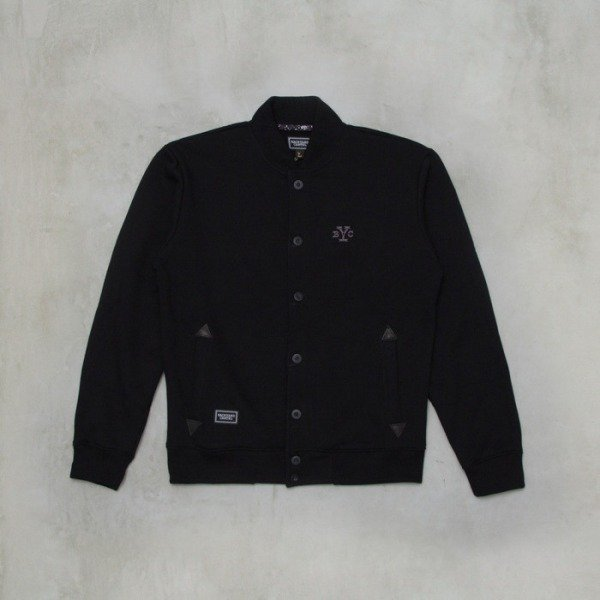 Backyard Cartel bluza Button Baseball varsity black
