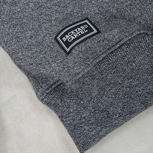 Backyard Cartel bluza Goliath crewneck dark grey heather