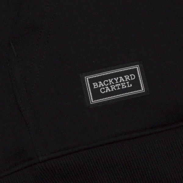 Backyard Cartel bluza Label Hoody black