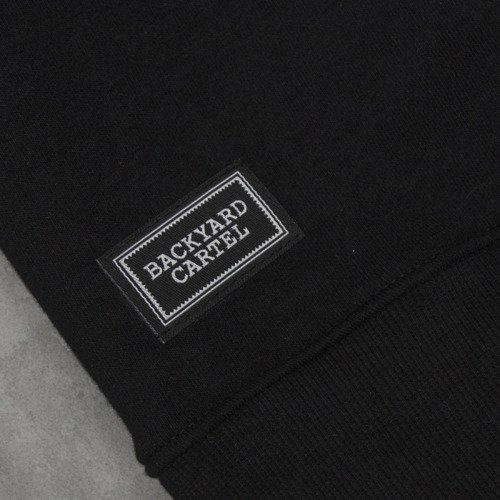 Backyard Cartel bluza Label Logo Crew black / grey