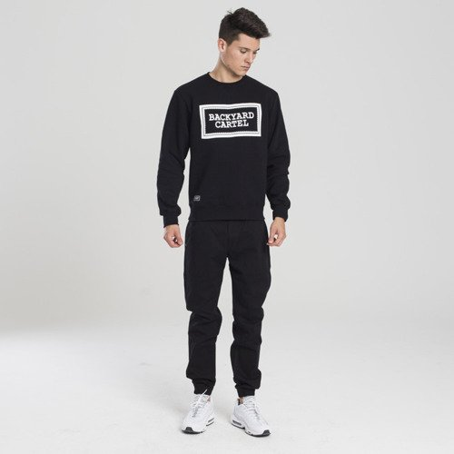 Backyard Cartel bluza sweatshirt Label Logo crewneck black
