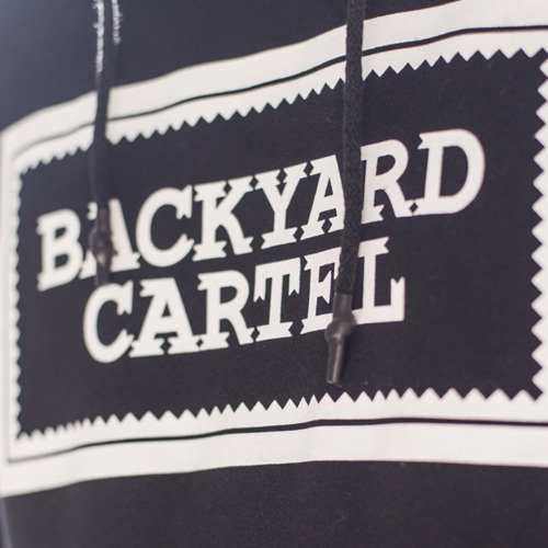 Backyard Cartel bluza sweatshirt Label Logo hoody black