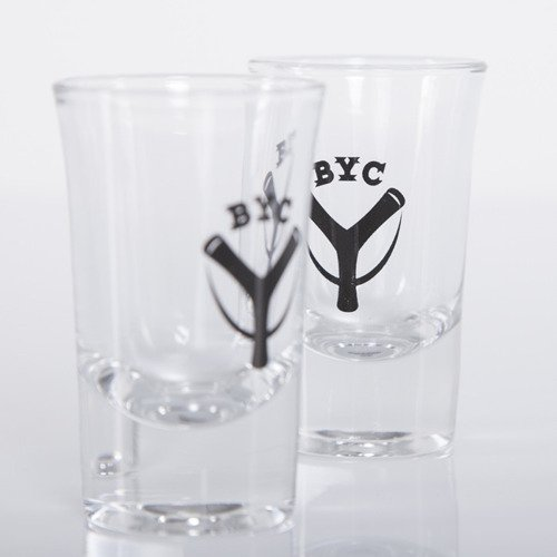 Backyard Cartel kieliszki Logo BYC transparent / black