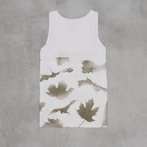 Backyard Cartel koszulka Leaves Half tank-top white