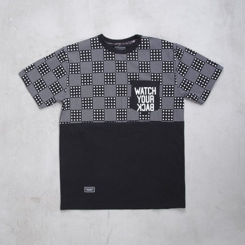 Backyard Cartel koszulka t-shirt Dots Checker Pocket black