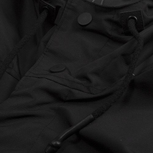 Backyard Cartel kurtka ATHL Long Parka black ripstop